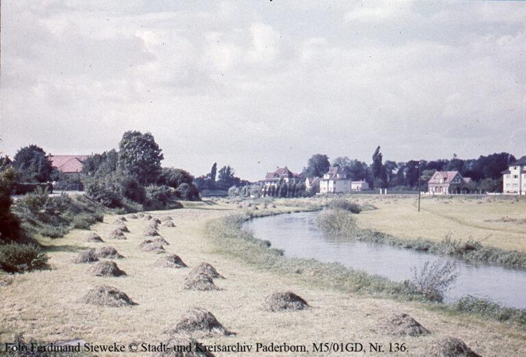 Heuernte auf den Paderwiesen, um 1940
