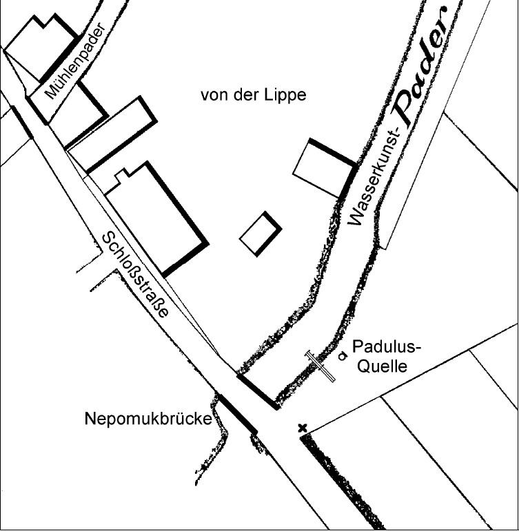 Situationsplan der Padulus-Quelle