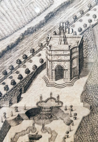 """Neuhaus, von Hofbaumeister F. C. Nagel projektierter Wasserturm als """"Point de vue"""" im 1726-36 neu angelegten Schlossgarten (Residenzmuseum Schloss Neuhaus, Foto M. Ströhmer)"""
