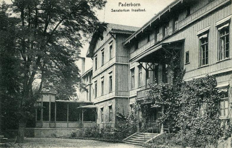 Kurhaus, Ansichtskarte um 1900 (StA Paderborn, M 1 Ansichtskartensammlung, Klassifikationsgruppe 5, Inselbad